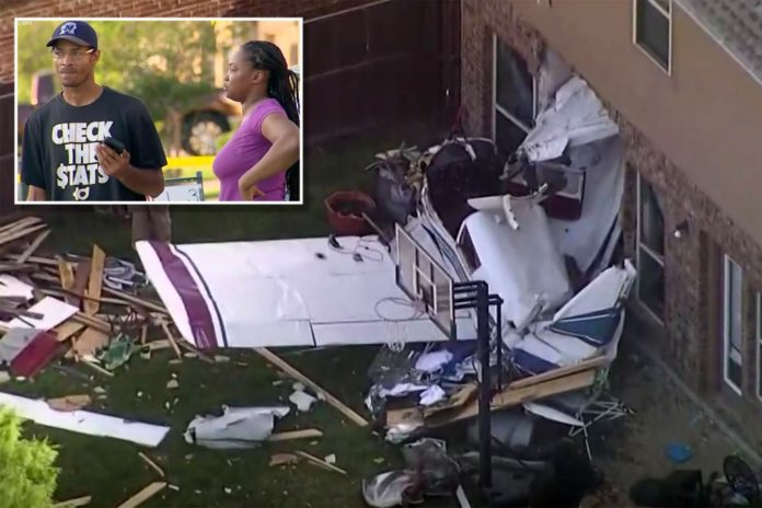 Injuries reported after military plane crashes into Texas homes