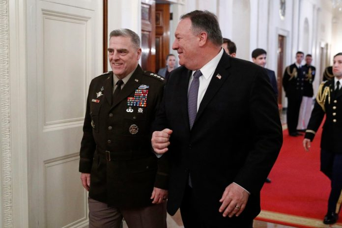 Pompeo didn't know about about Milley's talks with China