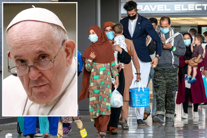 Pope Francis encourages countries to take in Afghan refugees