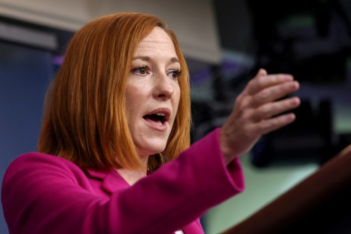 Psaki scoffs at question about pregnancy claims at border