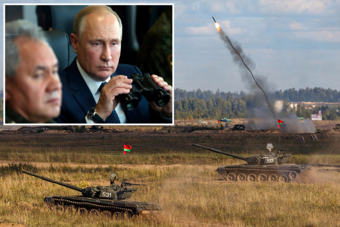 Russia and Belarus hold war games while Ukrainian President warns of all-out war