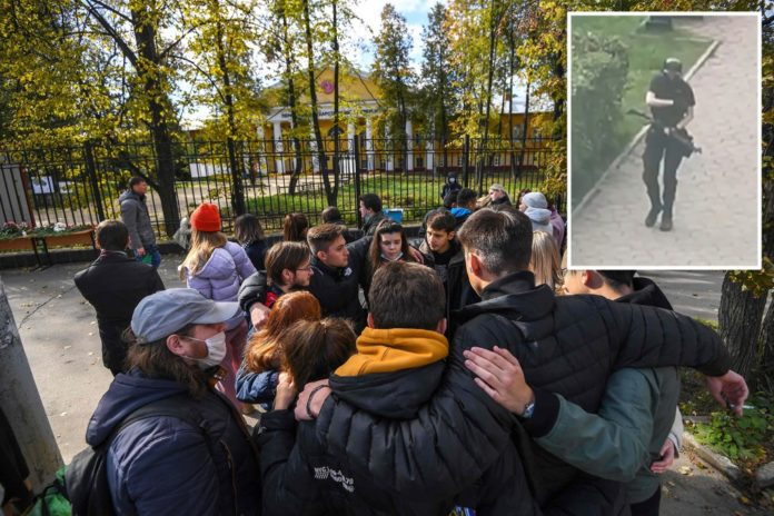 Russians mourn victims of deadly university campus shooting