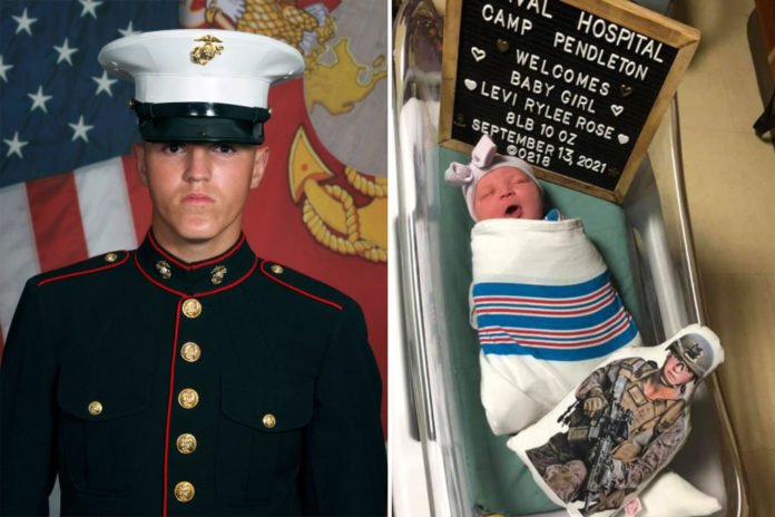 Widow of Marine killed in Kabul gives birth to daughter