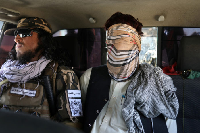 Taliban show off captured, blindfolded ISIS terror suspect