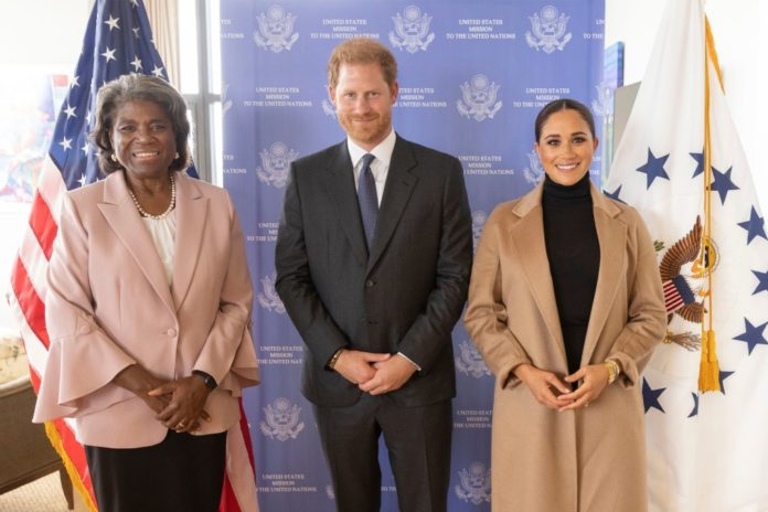 Prince Harry and Meghan Markle meet with US Ambassador to the UN