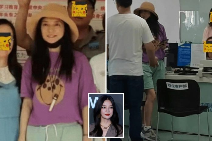 China's Zhao Wei spotted after gov't erased her from web