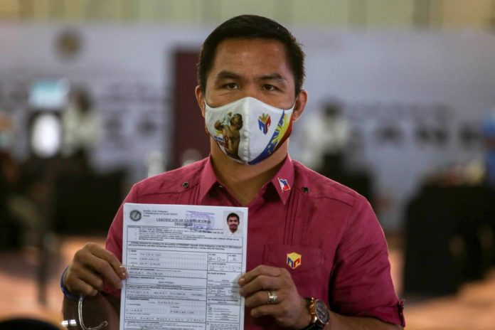 Manny Pacquiao files bid for presidency as Philippine race heats