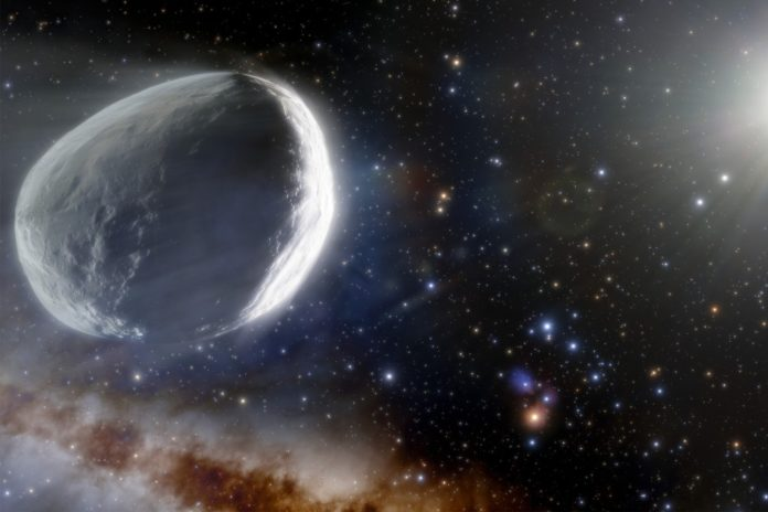 Comet as large as small planet barreling toward solar system