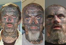 'Scariest criminal' with face covered by tattoos charged for alleged rape