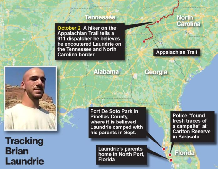 Brian Laundrie live updates: See all the spots the fugitive may have been