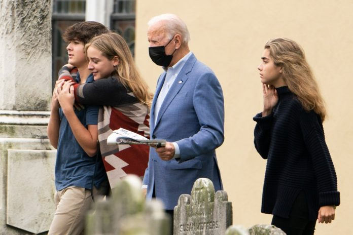 Biden takes off Columbus Day, attends wedding amid approval slump