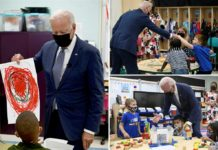 Biden watches kid's infrastructure project topple during trip to NJ school