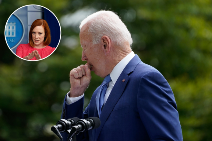 Coughing Biden sparks concern as Psaki says it's just allergies