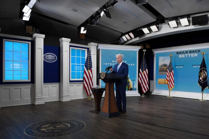 Biden back to fake White House set for spin on down jobs report