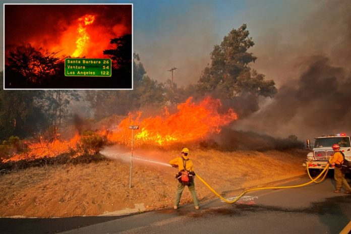 California fire, shifting winds pose challenge for firefighters