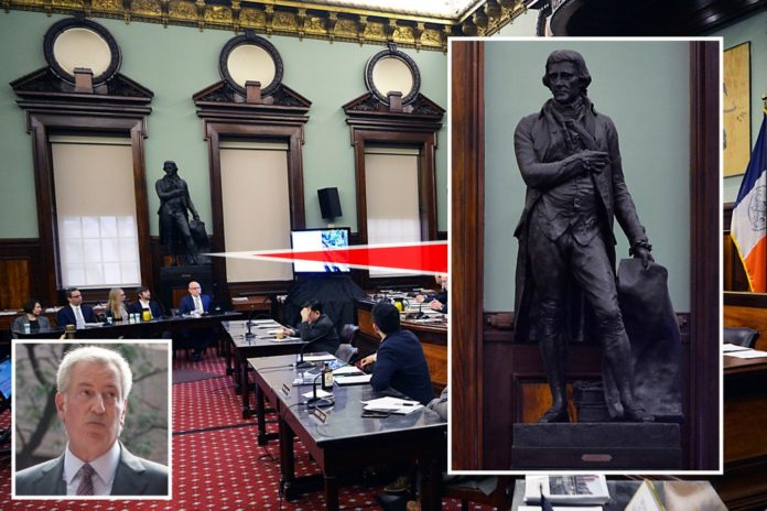 De Blasio booting Founding Father Jefferson from City Hall