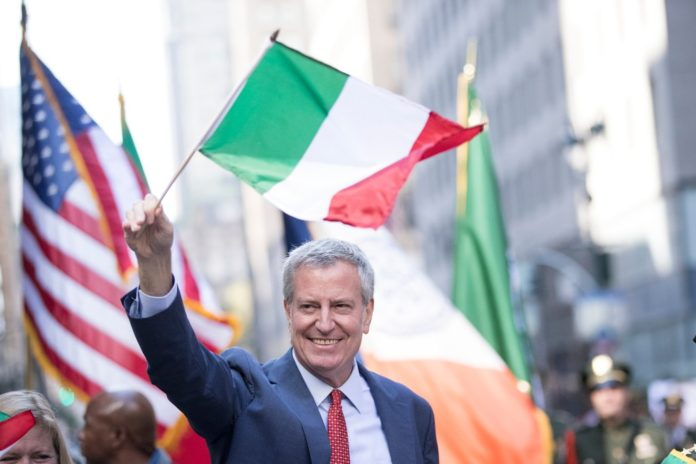 De Blasio welcome at Columbus Day Parade after 2020 snub