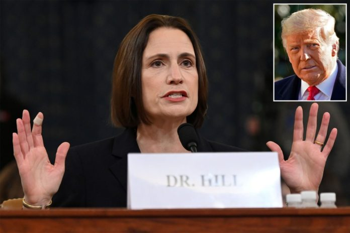 Ex-NSC official Fiona Hill admits it unlikely Russia had Trump blackmail