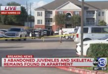 Houston cops find human remains, 3 abandoned kids in apartment