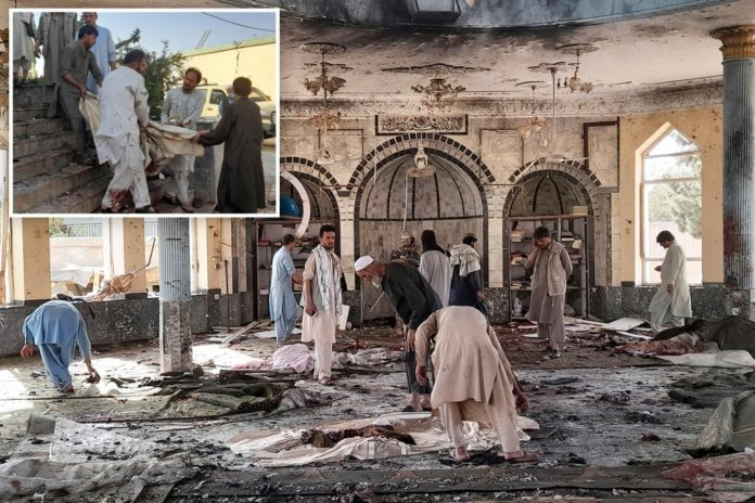 Afghan mosque targeted during prayers, many casualties reported