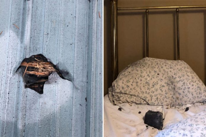 Sleeping Canadian woman has close call with meteorite