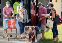 Brian Laundrie's parents dodge questions while running errands