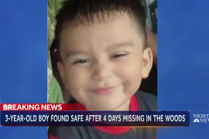 Man says God inspired him to find missing child lost in woods