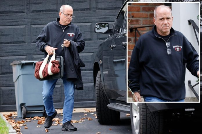 Ed Mullins, ex-NYPD union chief, emerges from home amid federal probe