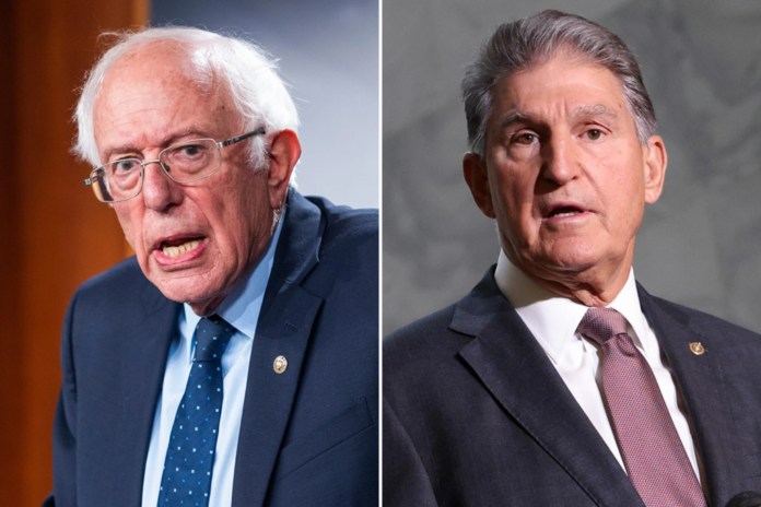 Sanders blasts Manchin over spending bill in press conference