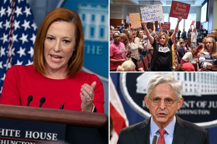Psaki can't say why Biden has FBI going after protesting parents