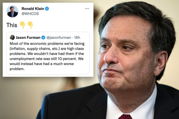 Ronald Klain retweets post calling supply chain crisis 'high class' issue